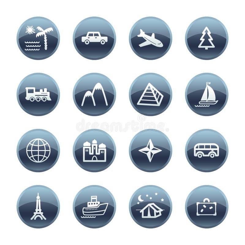 Iconos minerales del recorrido de la gota stock de ilustración