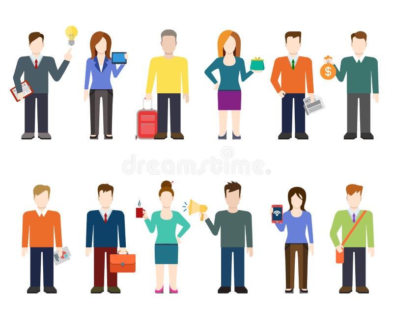 Iconos modernos de la gente del vector plano, trabajador profesional, forma de vida ilustración del vector