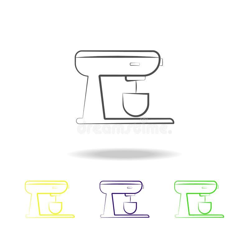 iconos multicolores del mezclador inmóvil Elemento de los iconos multicolores de los dispositivos eléctricos Las muestras, icono  ilustración del vector