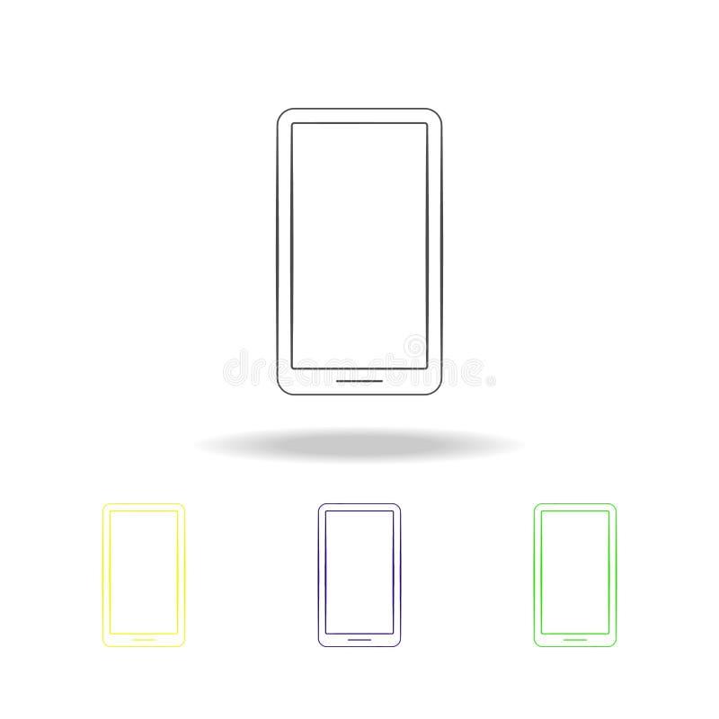 iconos multicolores del teléfono móvil Elemento de los iconos multicolores de los dispositivos eléctricos Las muestras, icono de  ilustración del vector