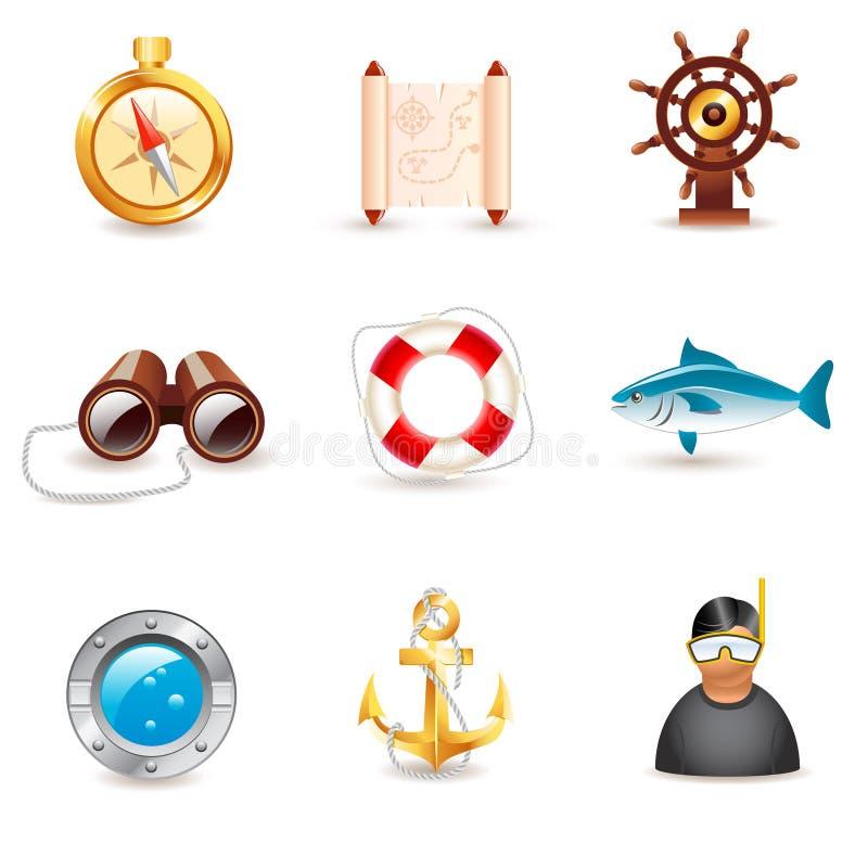 Iconos náuticos libre illustration
