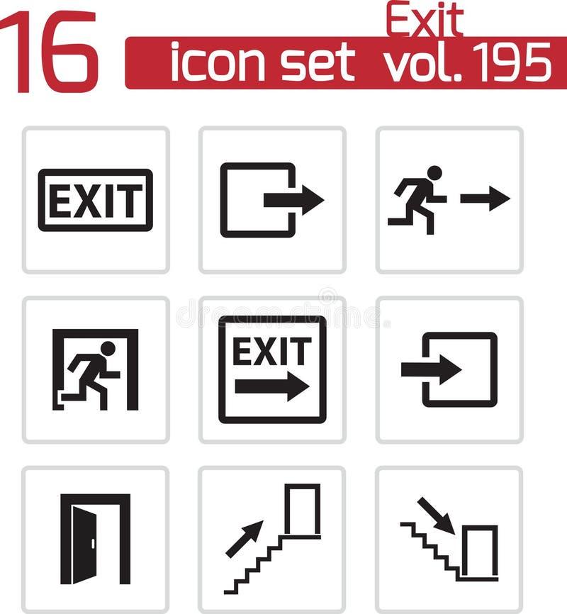Iconos negros de la salida del vector fijados libre illustration