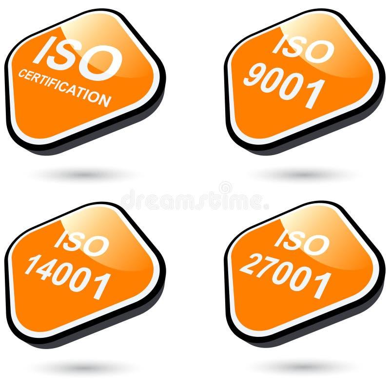 Iconos o botones de la ISO ilustración del vector