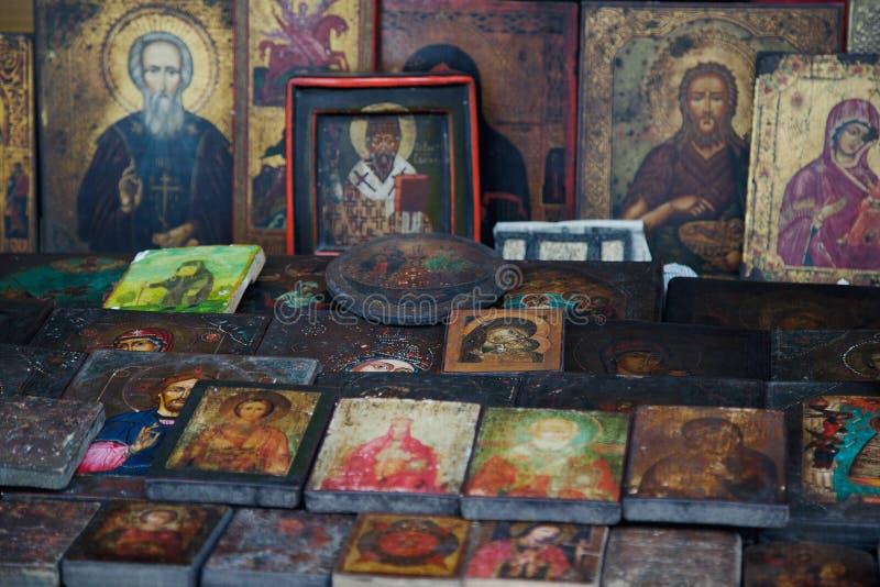 Iconos ortodoxos antiguos imágenes de archivo libres de regalías
