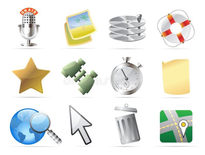 Iconos para el interfaz libre illustration