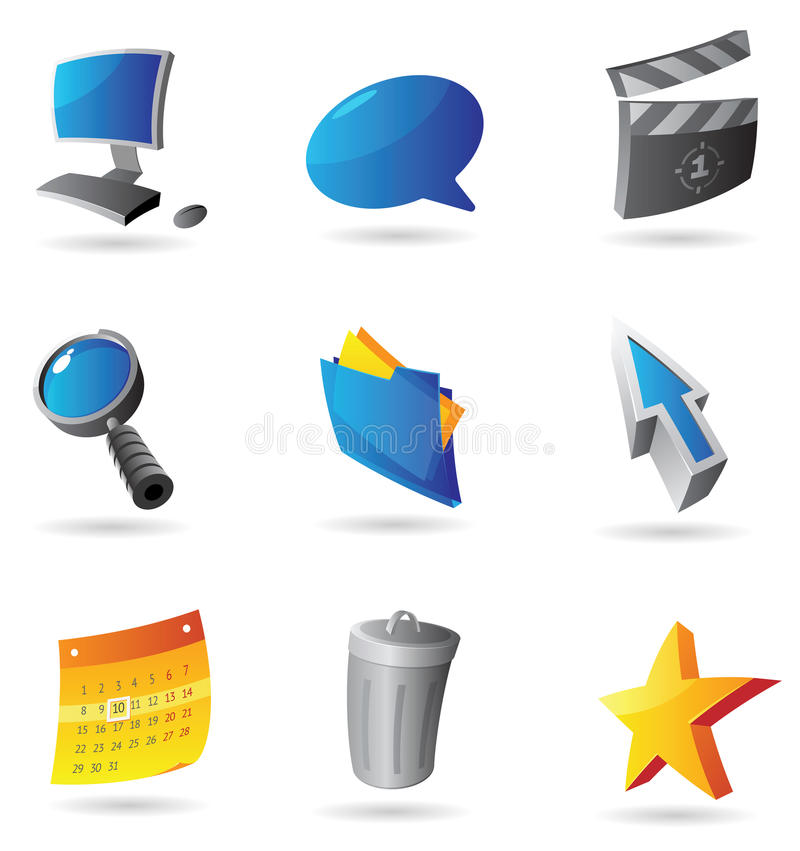 Iconos para el interfaz del ordenador libre illustration