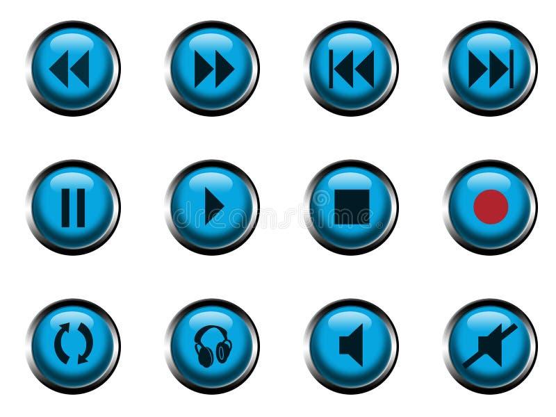 Iconos para el jugador ilustración del vector
