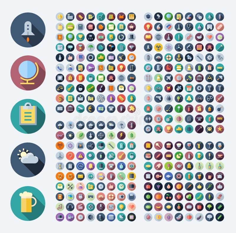 Iconos para el negocio, la tecnología, industrial, comida y bebidas libre illustration