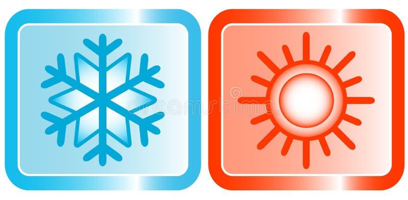 Iconos para el tema de los acondicionadores libre illustration