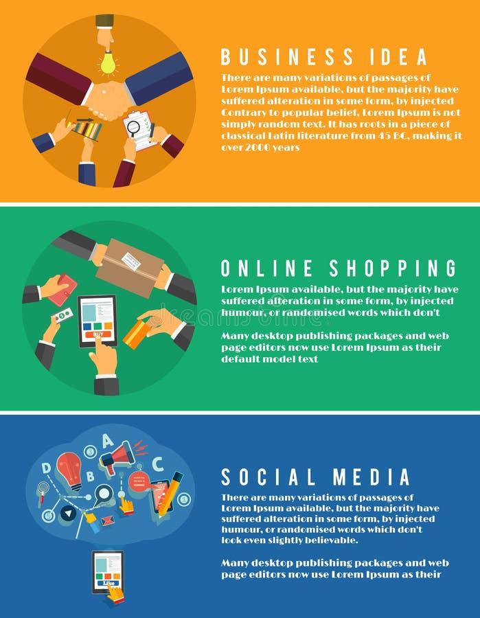 Download Iconos Para Las Compras En Línea, Idea, Medio Social Ilustración del Vector - Ilustración de comunicación, móvil: 42433047