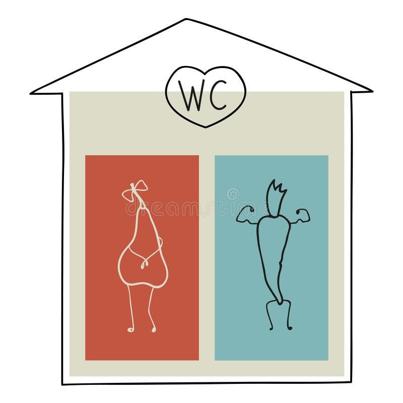 Iconos para los retretes masculinos y femeninos libre illustration