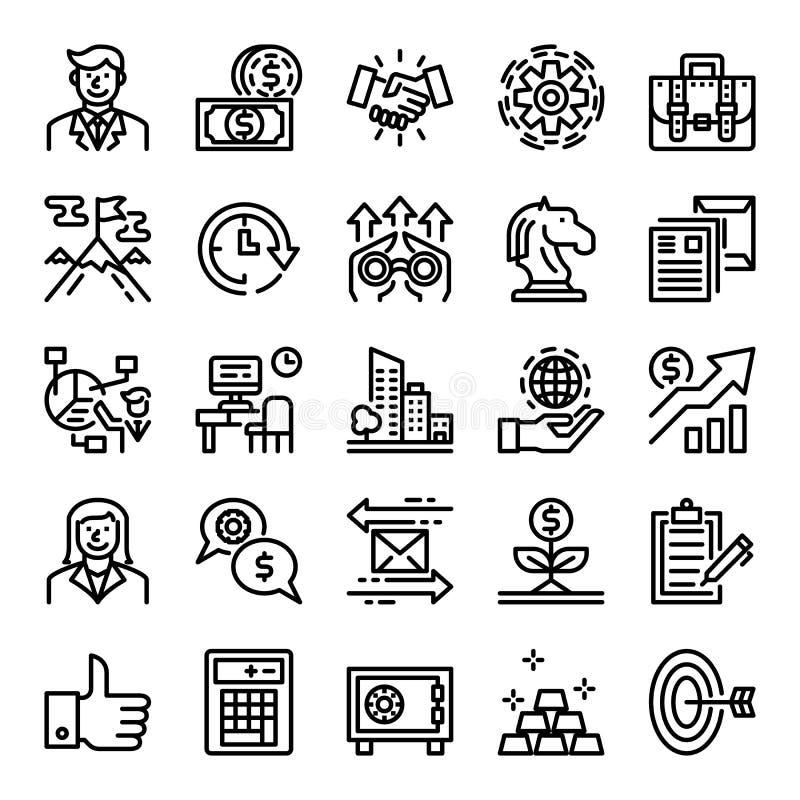 Iconos perfectos del pixel del negocio ilustración del vector