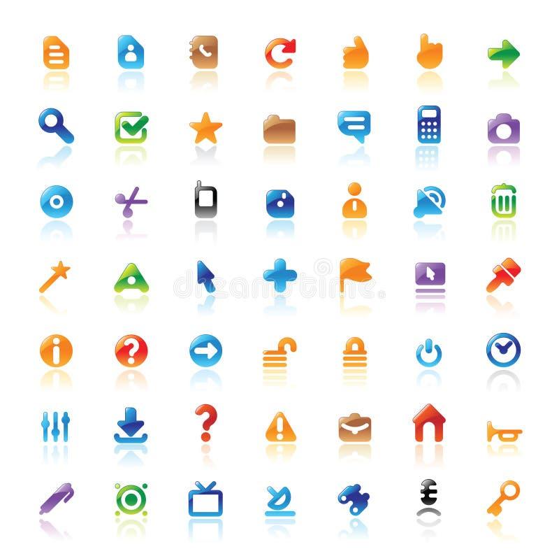 Iconos perfectos para el interfaz stock de ilustración