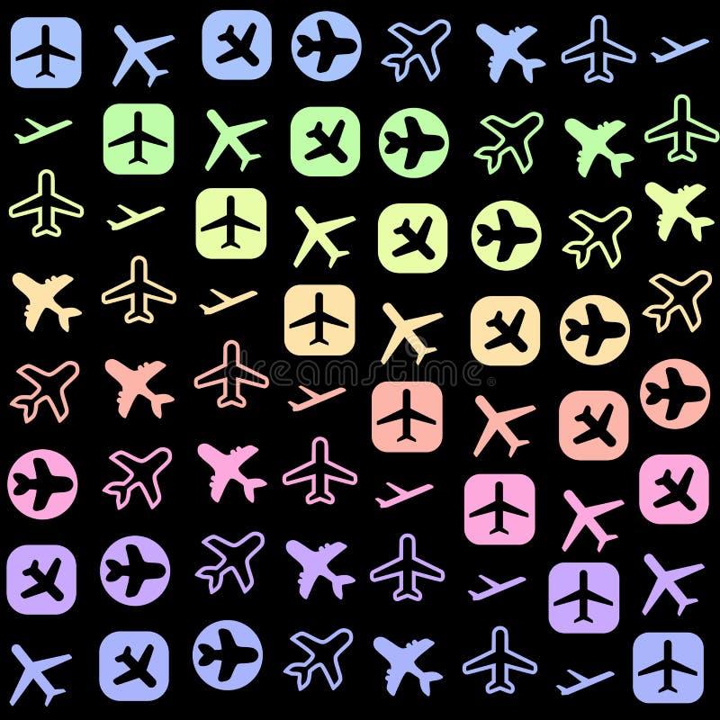 Iconos planos stock de ilustración