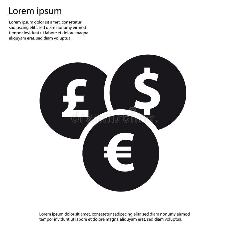 Iconos planos de diversas monedas para Apps y los sitios web libre illustration