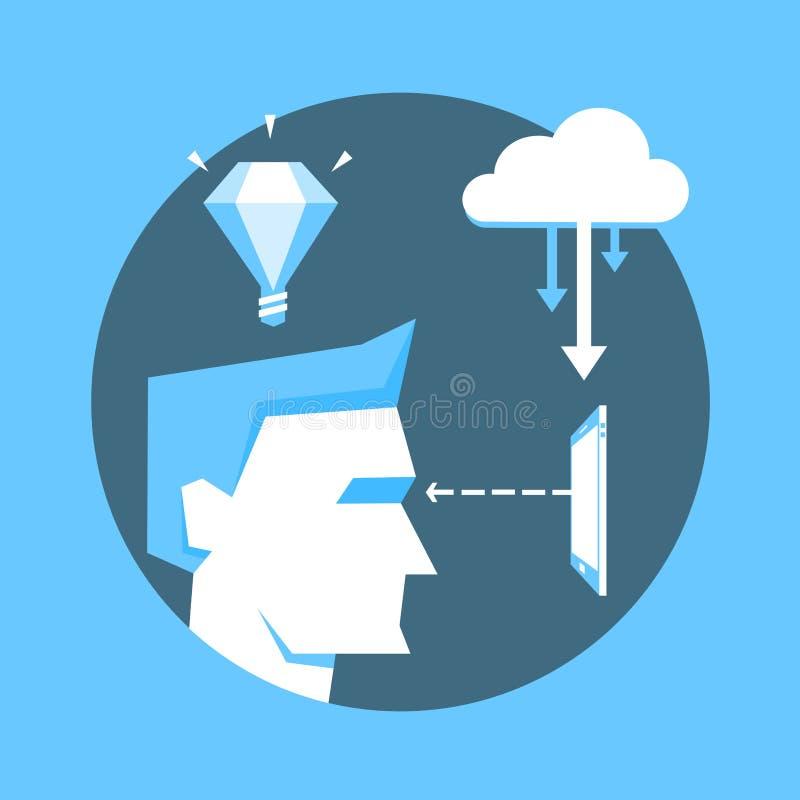 Iconos planos del diseño para el web, los servicios móviles y libre illustration