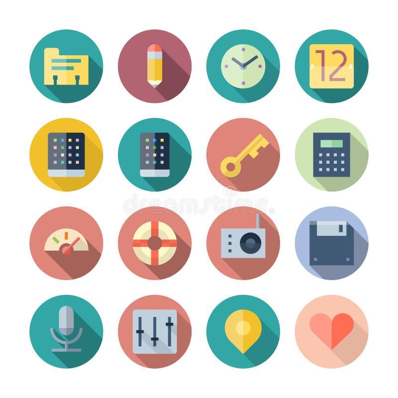 Iconos planos del diseño para la interfaz de usuario libre illustration