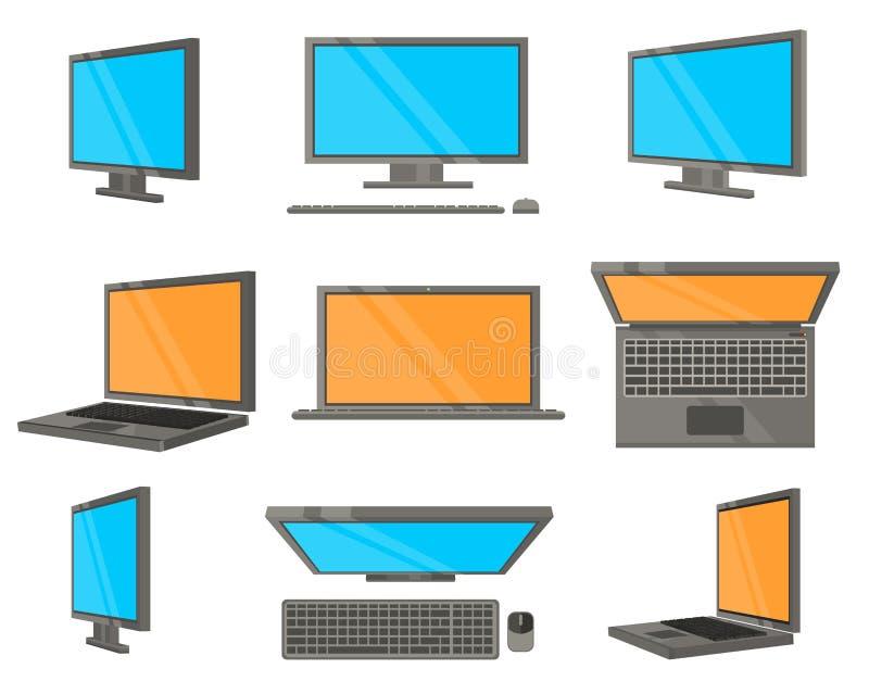 Iconos planos del dispositivo electrónico libre illustration