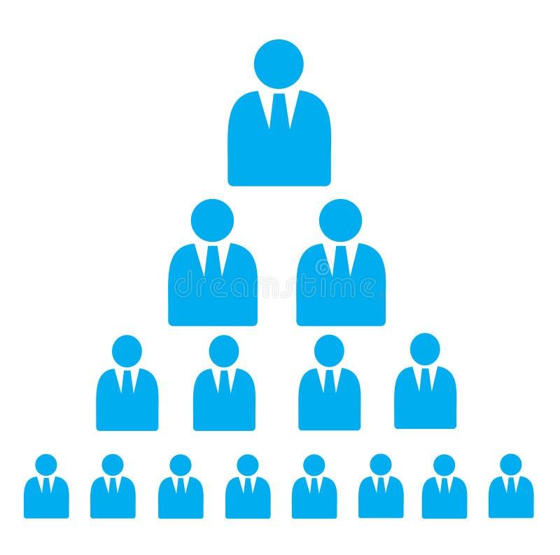 Iconos planos del esquema de pirámide stock de ilustración