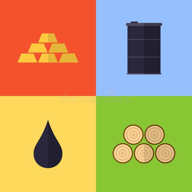 Iconos planos del juego del vector ilustración del vector