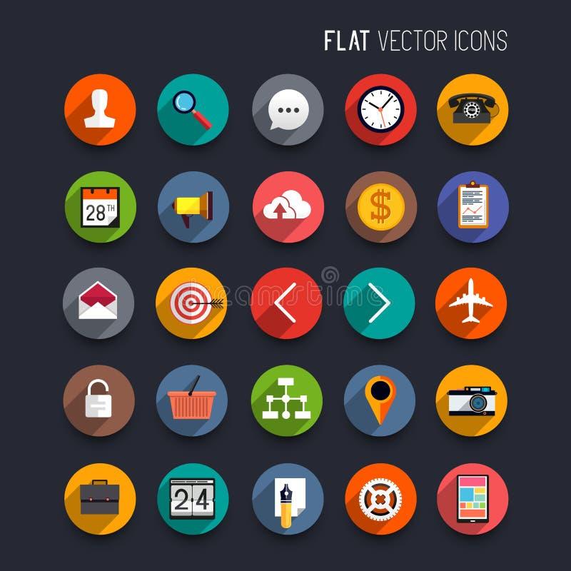 Iconos planos del vector ilustración del vector
