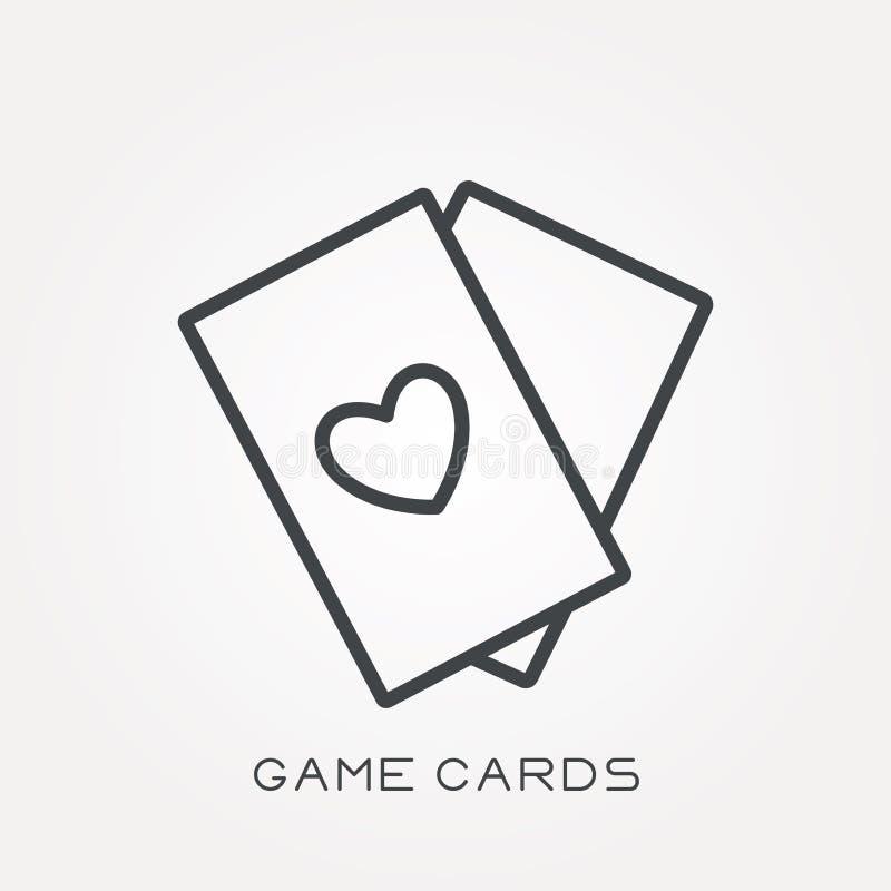 Iconos planos del vector con las tarjetas de juego libre illustration