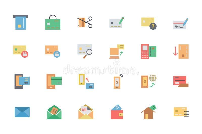 Iconos planos 2 del vector del pago de la tarjeta libre illustration