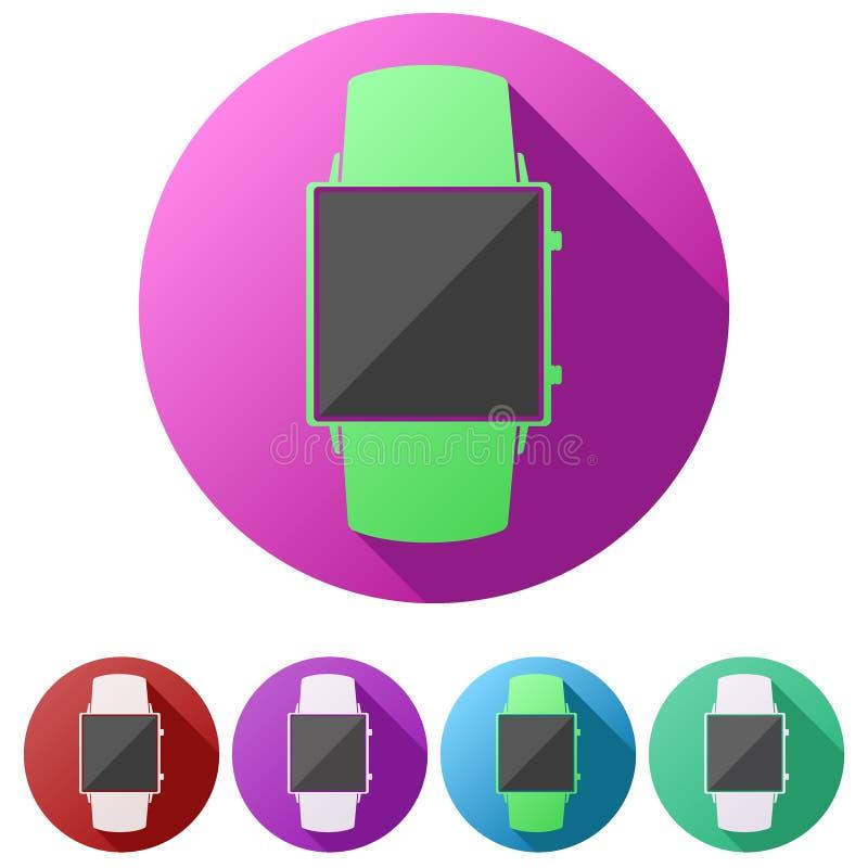 Iconos planos determinados del smartwatch original del diseño libre illustration