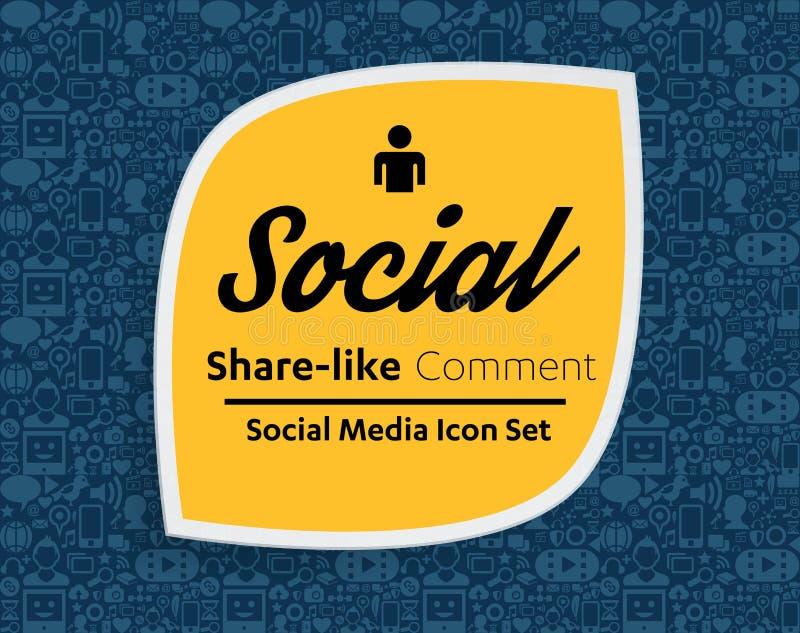 Iconos planos en una forma de la burbuja del discurso: tecnología, medio social, red, concepto del ordenador del vínculo Grupo ab ilustración del vector