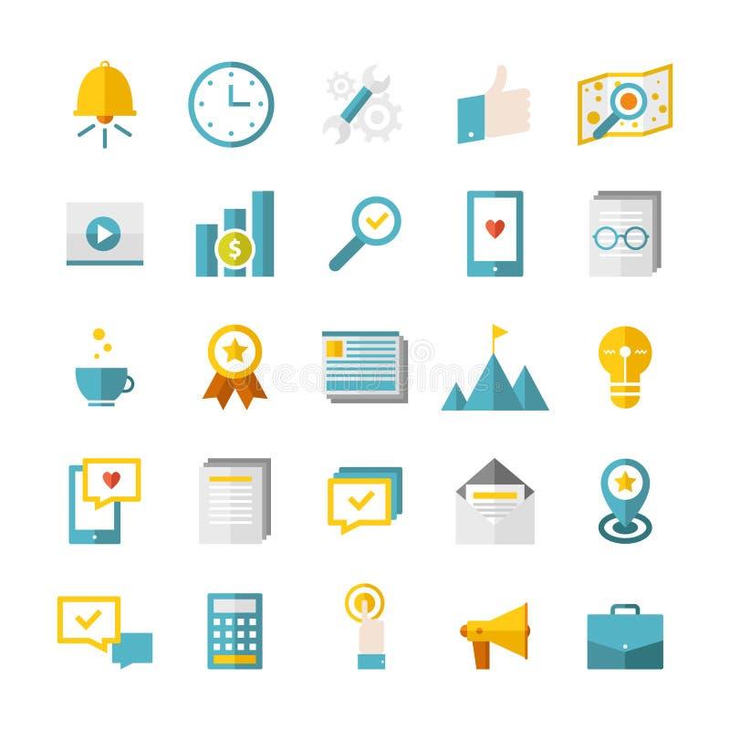 Iconos planos modernos del negocio libre illustration