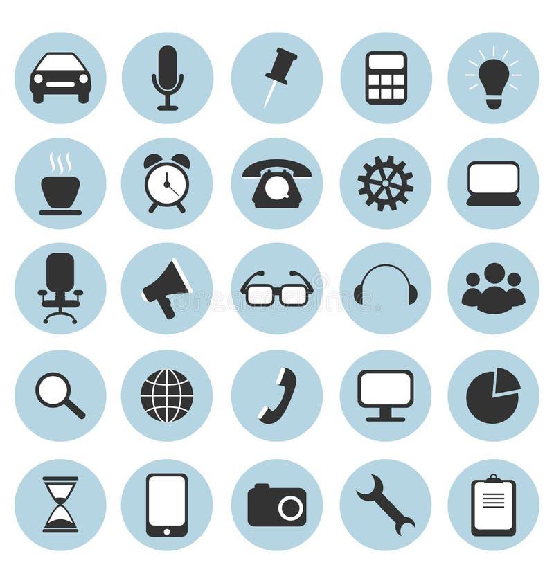 Iconos planos para el diseño web ilustración del vector