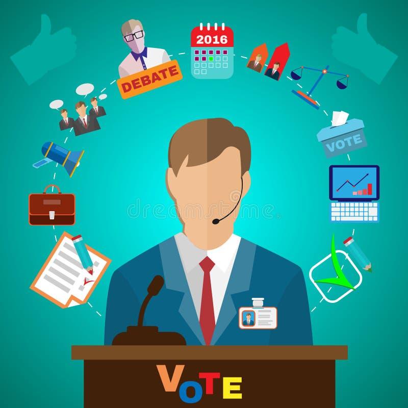Iconos presidenciales de los discusiones libre illustration