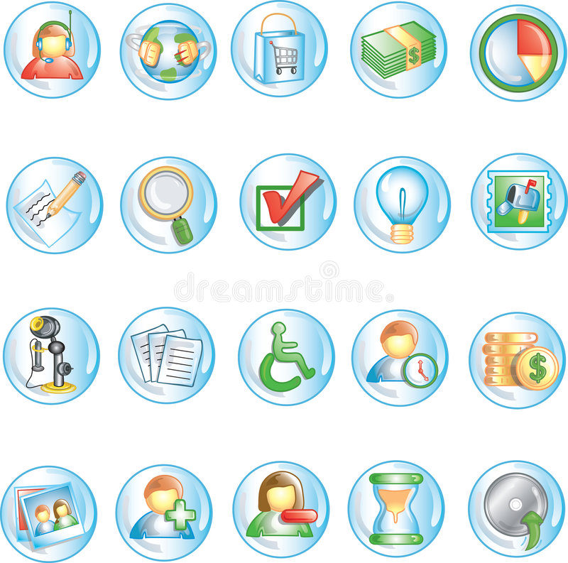 Iconos redondos 1 ilustración del vector