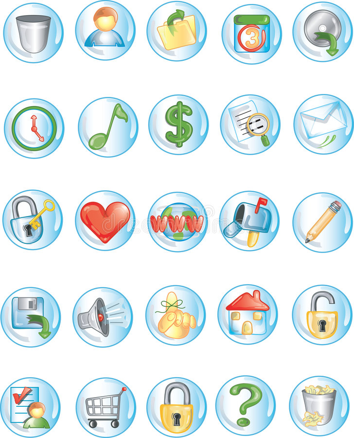 Iconos redondos 2 libre illustration
