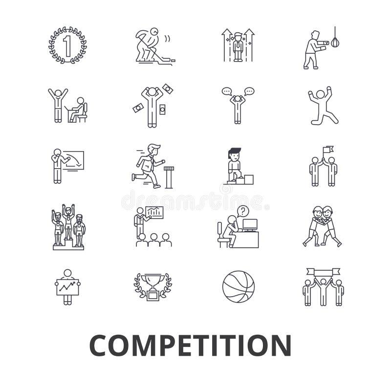 Iconos relacionados de la competencia ilustración del vector