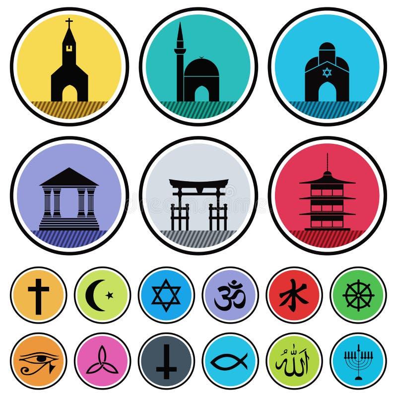 Iconos religiosos ilustración del vector