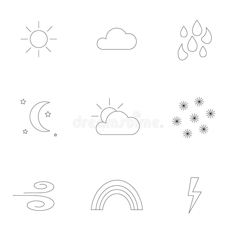 Iconos resumidos del tiempo libre illustration