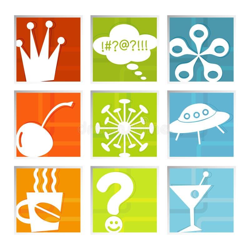 Iconos retros de la diversión (vector) libre illustration