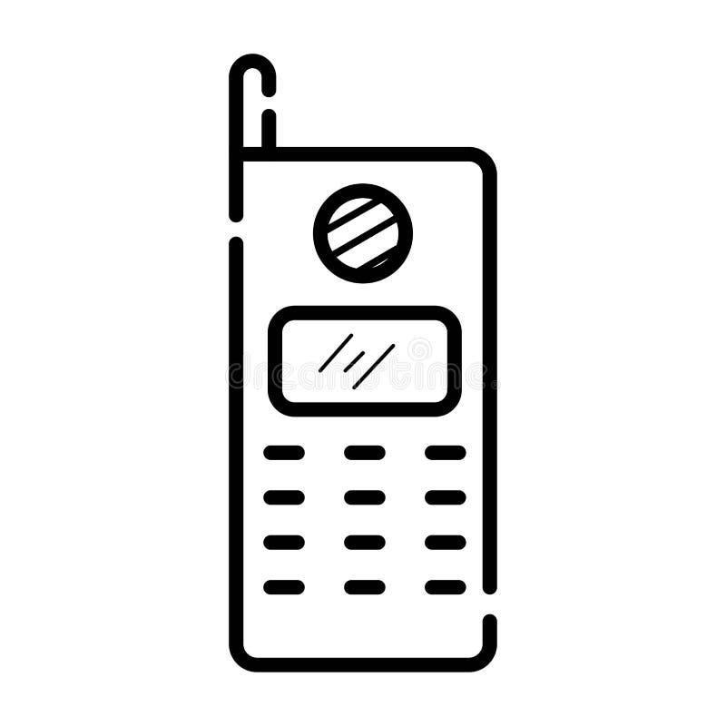 Iconos retros - teléfono móvil stock de ilustración