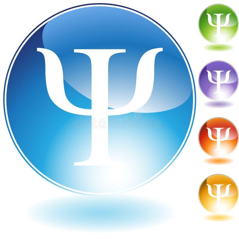 Iconos - símbolo griego PSI ilustración del vector