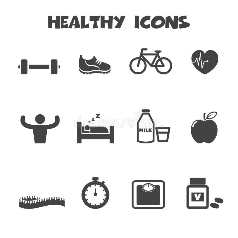 Iconos sanos stock de ilustración