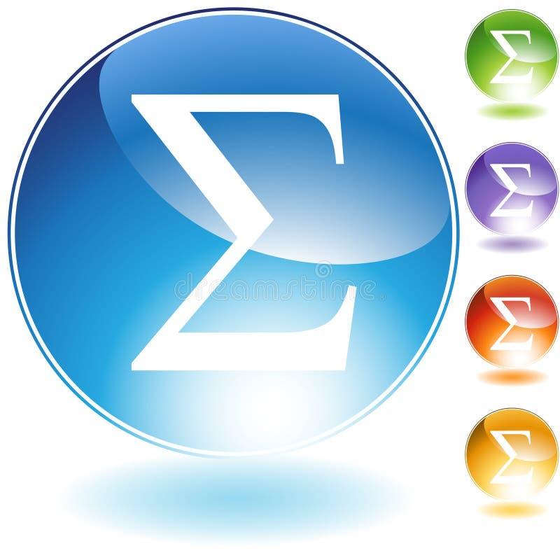 Iconos - sigma griega del símbolo stock de ilustración