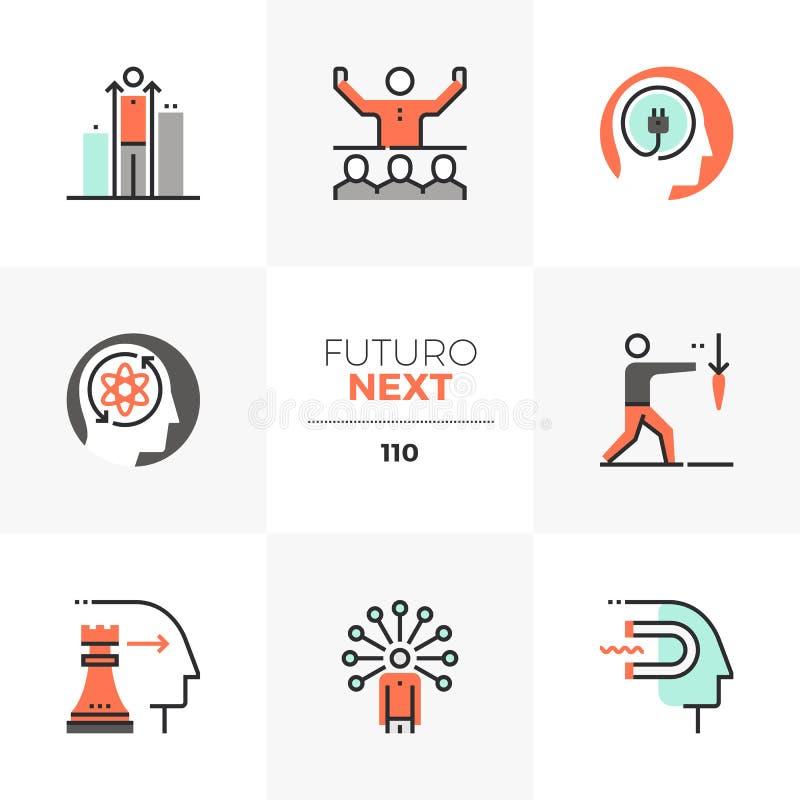 Iconos siguientes de Futuro de las habilidades del negocio libre illustration