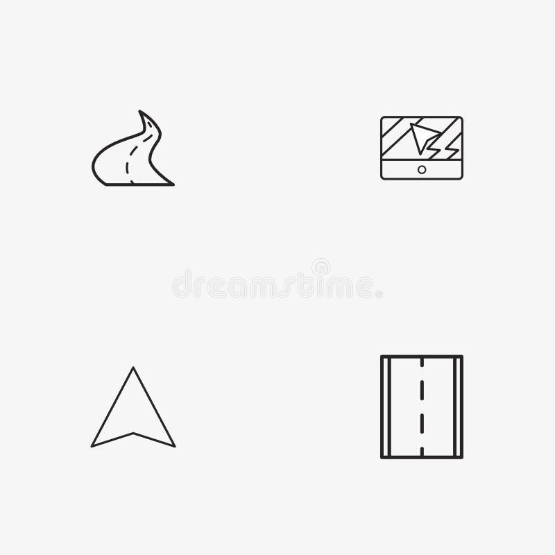 4 iconos simples útiles del transporte imagenes de archivo