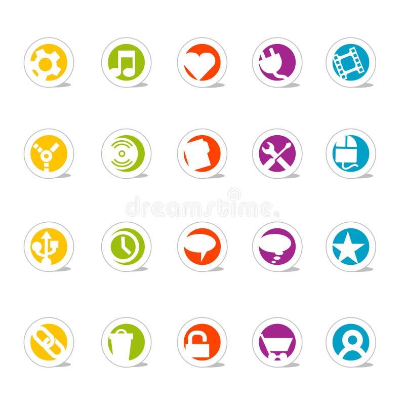 Iconos simples 2 (vector) del Web stock de ilustración