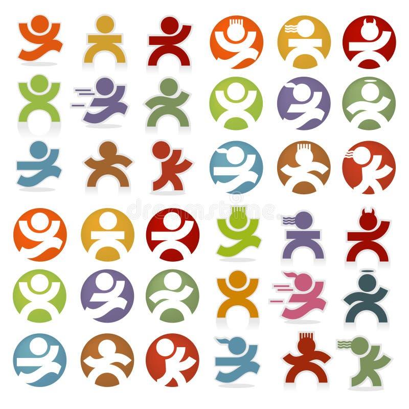 Iconos simples de la gente ilustración del vector