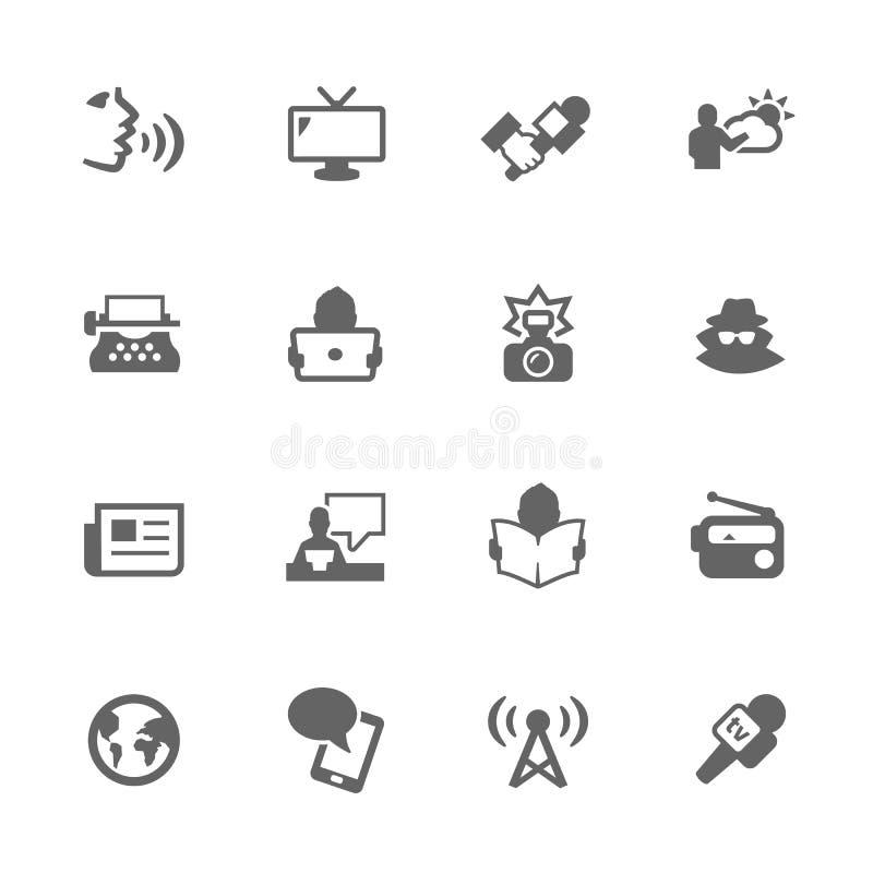 Iconos simples de las noticias ilustración del vector