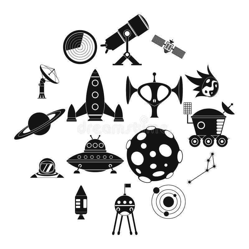 Iconos simples del espacio fijados libre illustration
