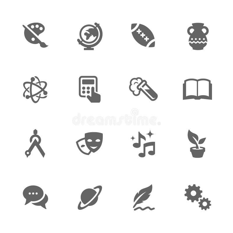 Iconos simples del tema de escuela libre illustration