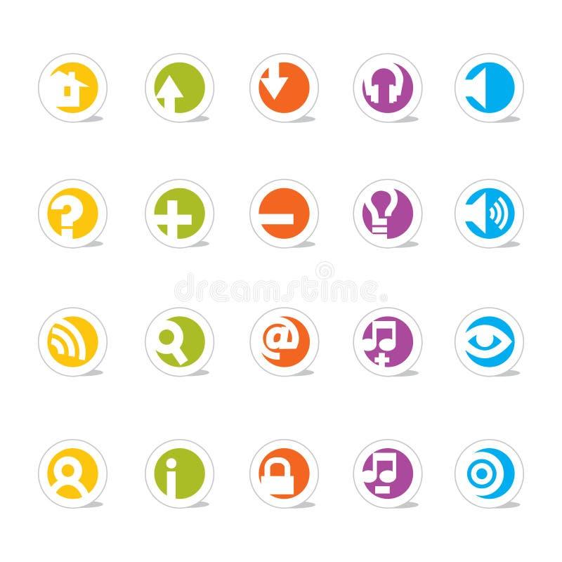 Iconos simples del Web (vector) stock de ilustración